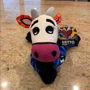 Britto Pop Plush Andy The Cow Romero Britto NWT
